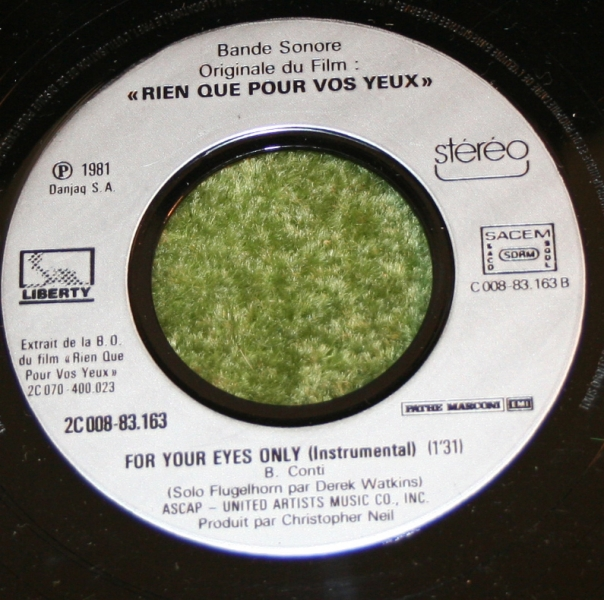 For Your eyes only French Single (2)