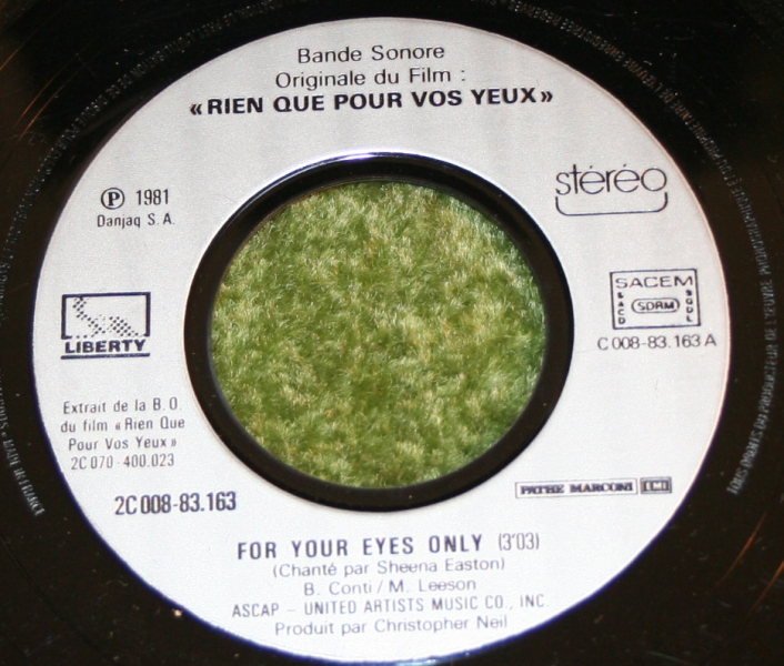 For Your eyes only French Single (3)