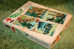 Green Hornet Whitman Jigsaw Puzzle set (2)