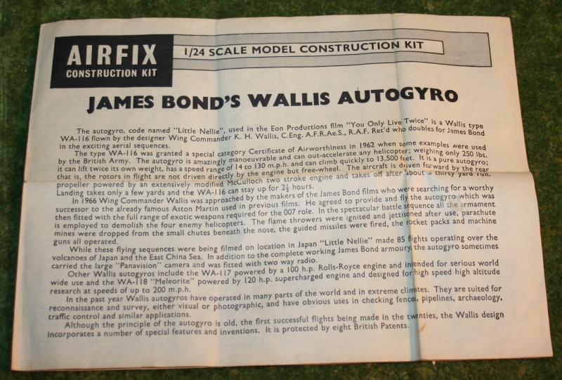 007 yolt airfix autogyro 1st issue