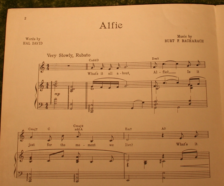Alfie Sheet Music Little Storping Museum