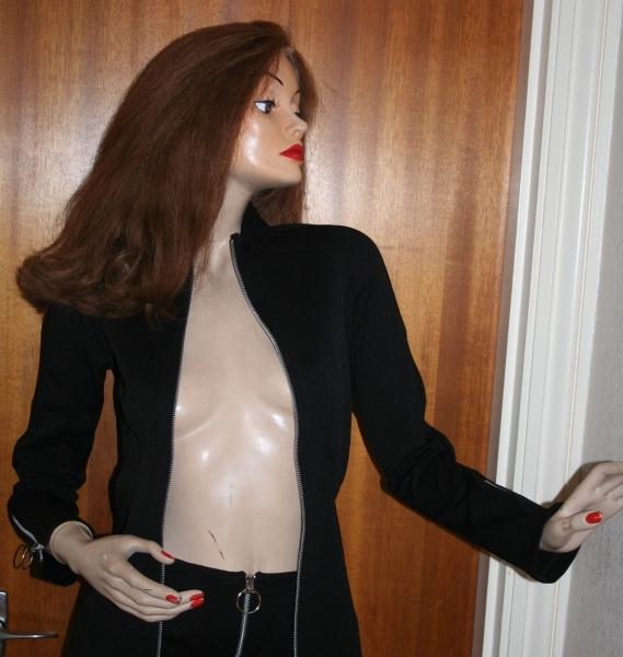 Avengers Movie Emma Peel Jacket Black Jersey (4)