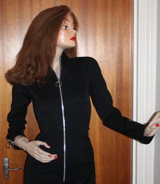Avengers Movie Emma Peel Jacket Black Jersey