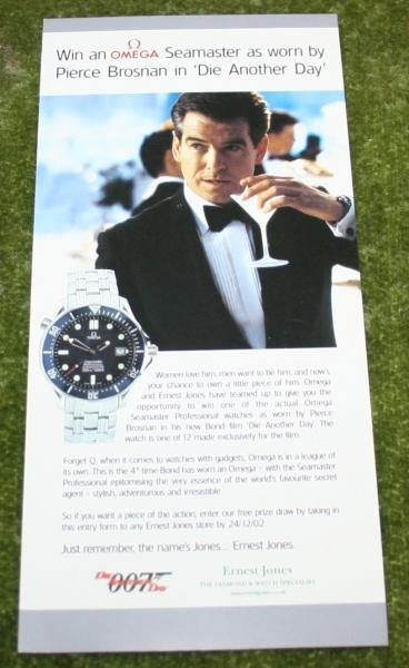 007 dad Ernest Jones Omega leaflet