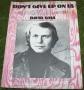 David Soul Don't give up on us baby sheet music autographed
