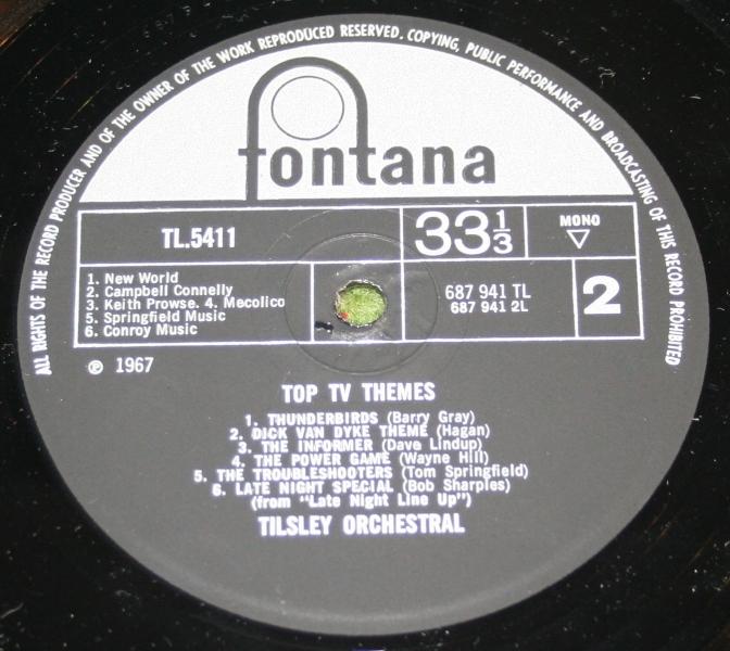 Top TV Themes Mono LP Fontana (5)