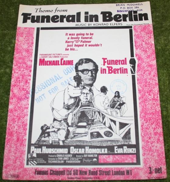 Funeral in Berlin Sheet music Harry Palmer