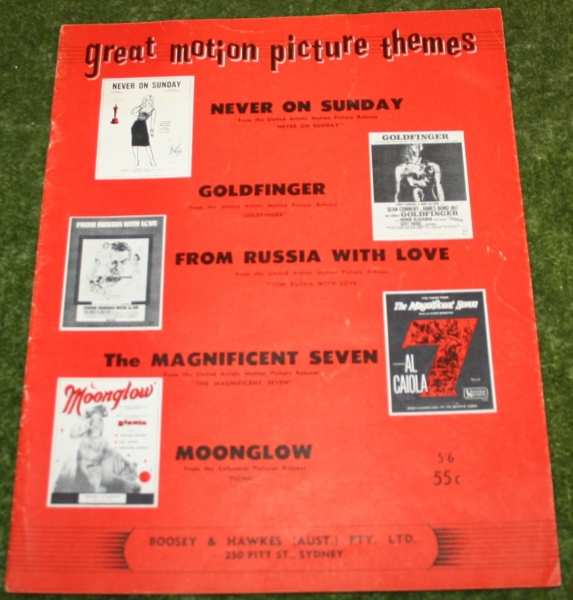Great motion picture themes sheet music