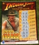 indiana jones lottery tickets