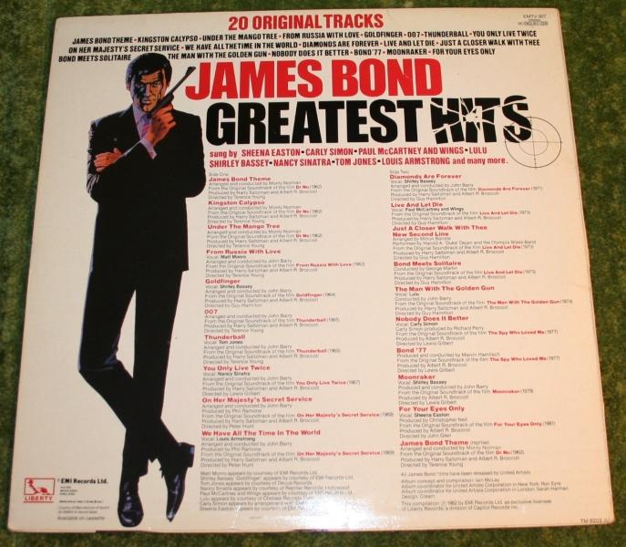 James Bond Greatest hits LP (2)
