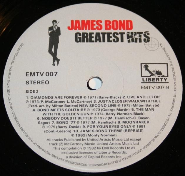 James Bond Greatest hits LP (5)