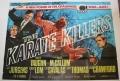Karate Killers UK Quad poster