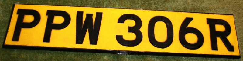 007 lotus licence plate