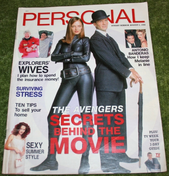 personal magazine 1998 august 2nd avengers movie cover