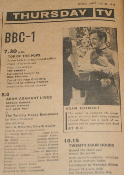 radio times 1966 july 30 - aug 5