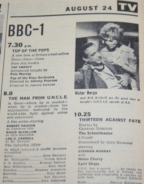 radio times 1967 august 19-25