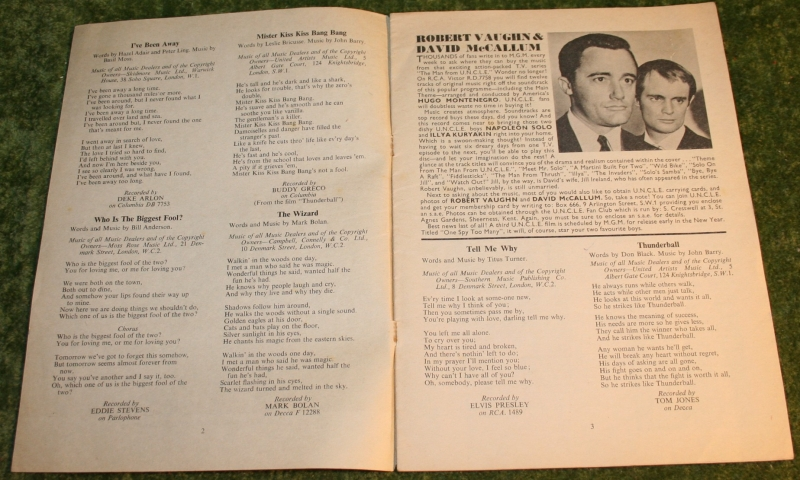 record song book magazine UNCLE cover poss 1965 (3)