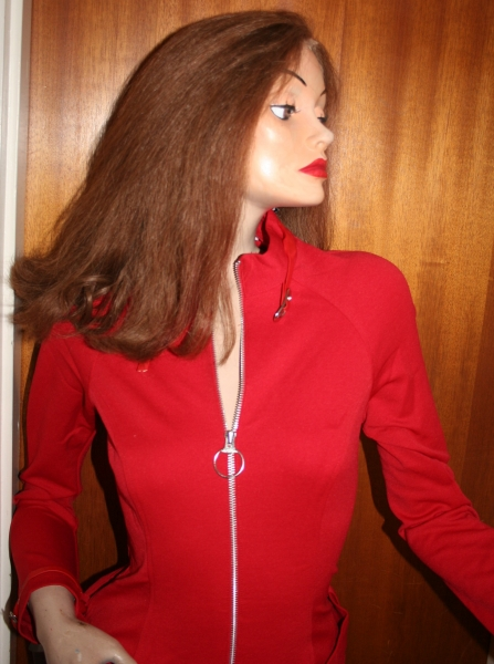 Avengers Movie Emma Peel Red Catsuit (10)
