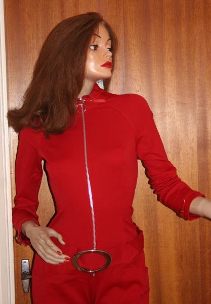 Avengers Movie Emma Peel Red Catsuit (4)