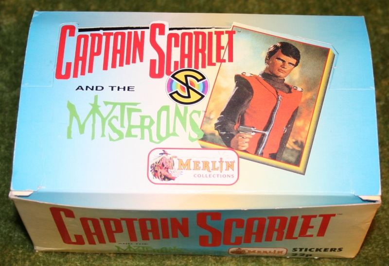 captain scarlet empty merlin sticker display box