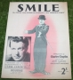 Charlie Chaplin sheet music smile