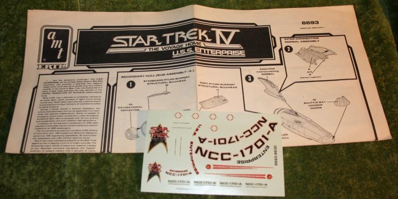 star trek 5 model kit instructions