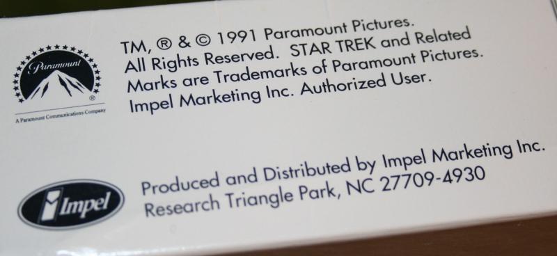 Star Trek Impel set 2 trading card display box