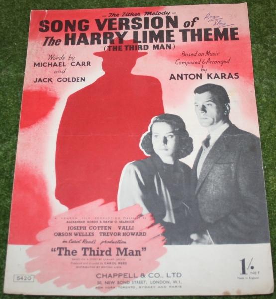 Third Man sheet music song version