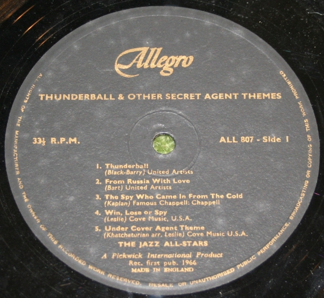 Thunderball MFU and others LP UK (4)