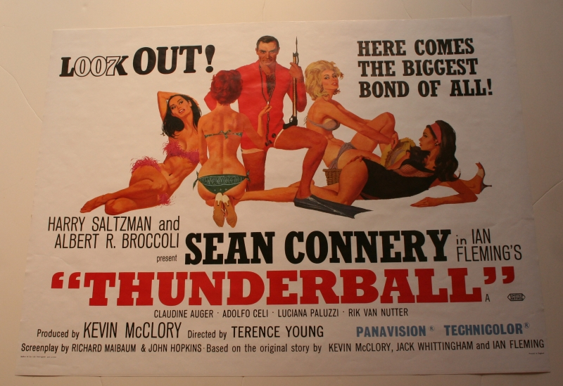 Thunderball reprint quad poster | Little Storping Museum