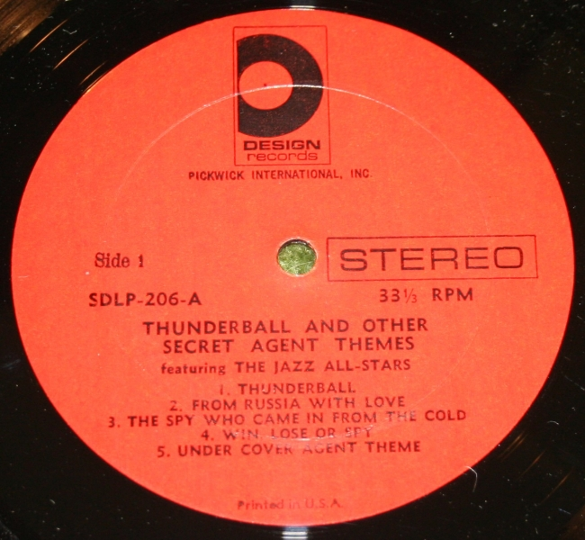 Thunderball MFU and others USA LP (3)