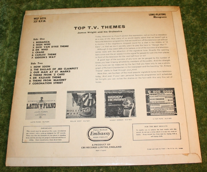 Top TV Themes Embassy LP (2)