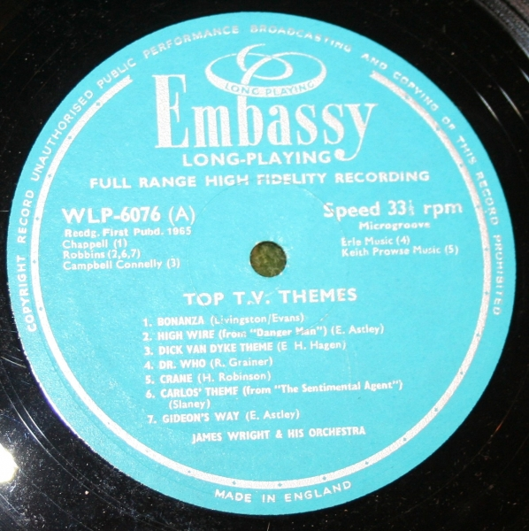 Top TV Themes Embassy LP (5)