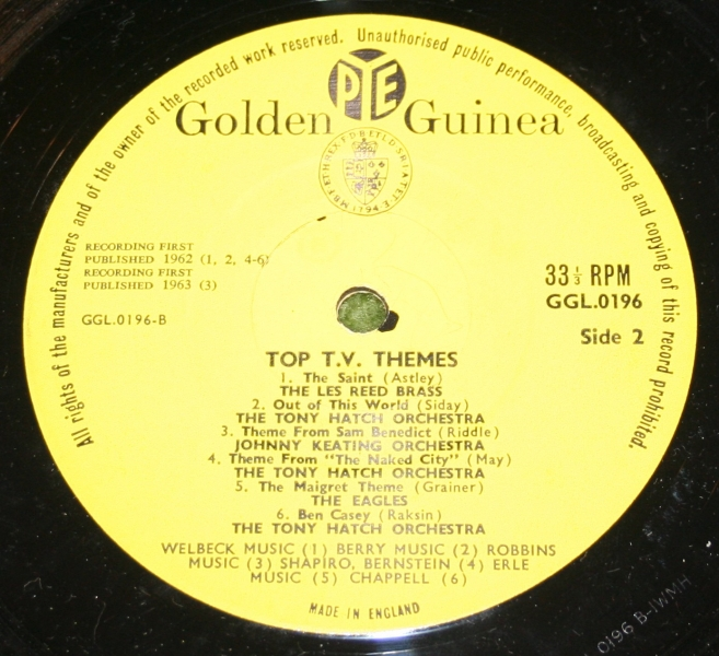 Top TV themes Golden guine LP (5)