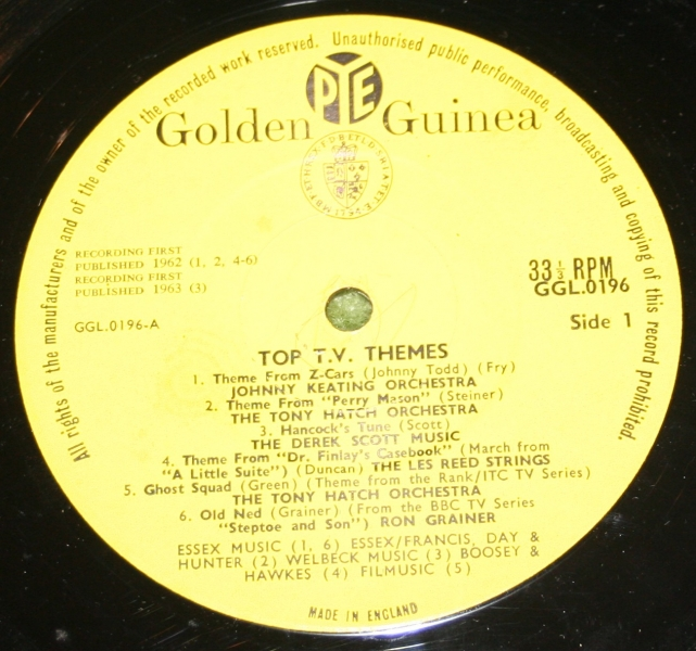 Top TV themes Golden guine LP