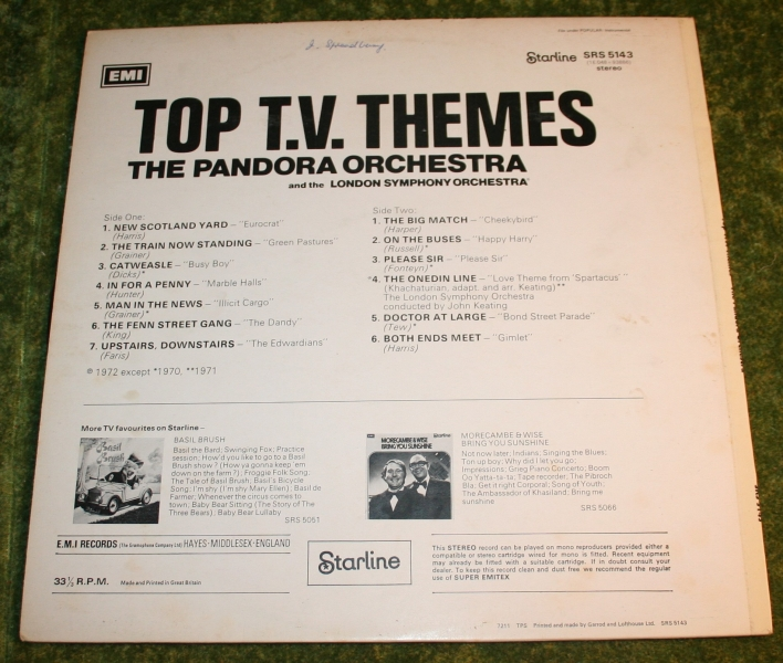 Top TV Themes Starline LP (2)