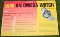007 win an omega watch goldeneye leaflet