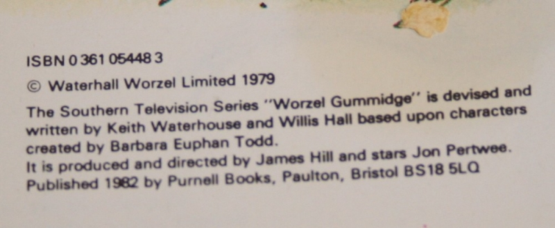 Worzal Gummidge story book (4)