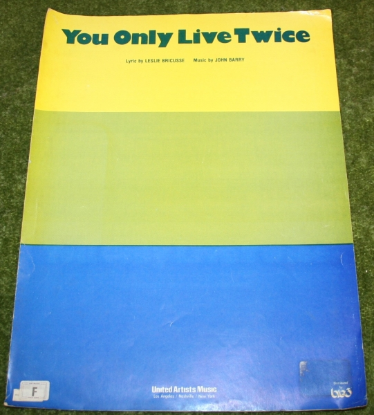 007 you only live twice sheet music