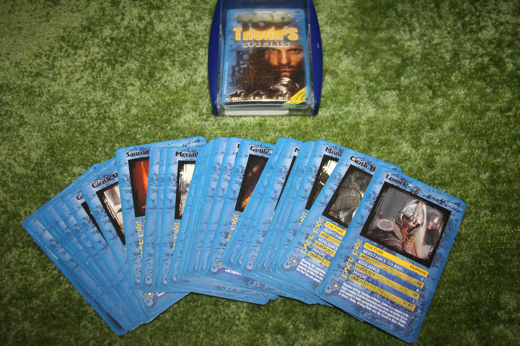 Lord of the Rings TopTrumps Cards.