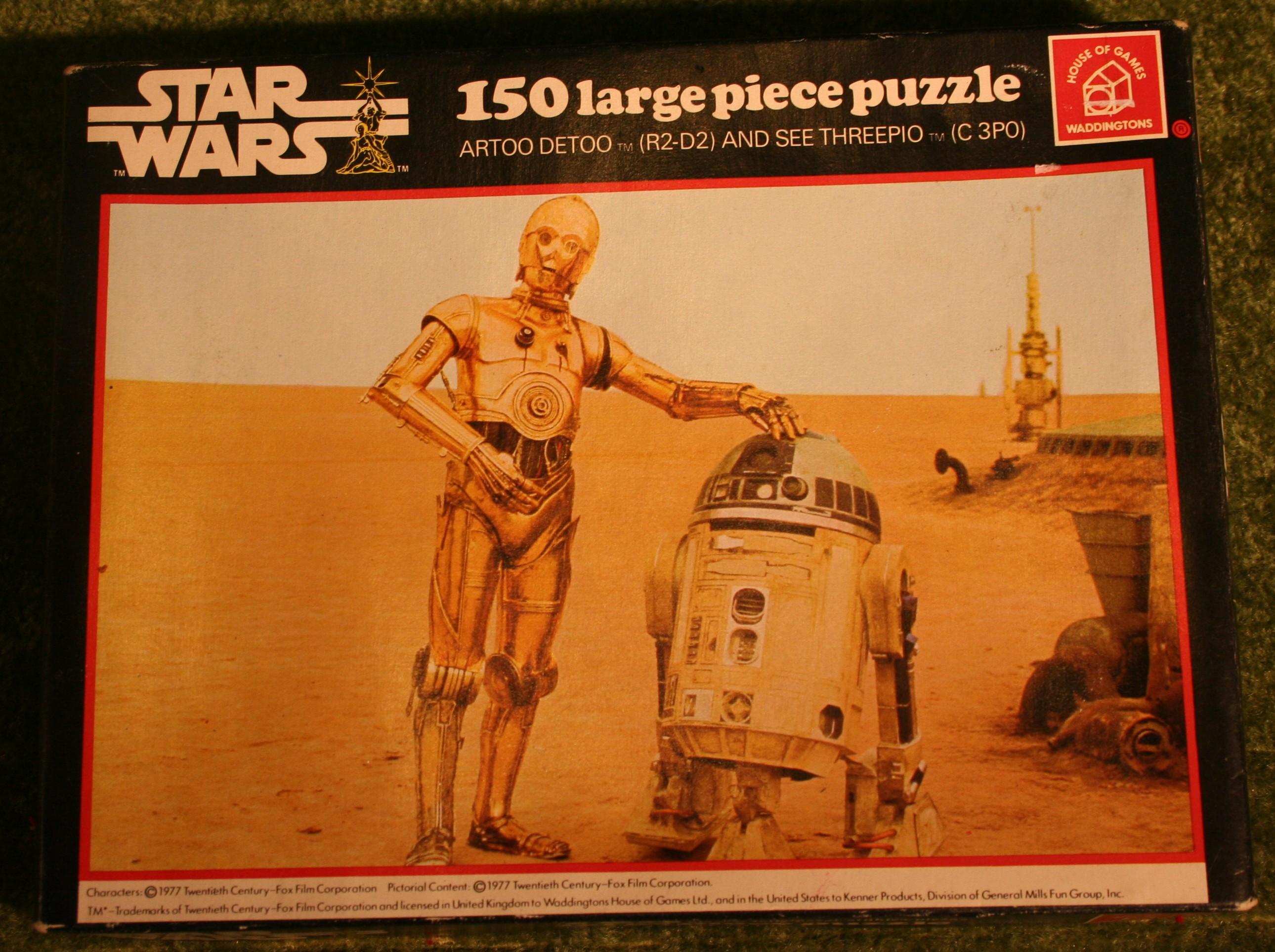 Star Wars Jigsaw 1977 R2D2 and C3PO Waddingtons