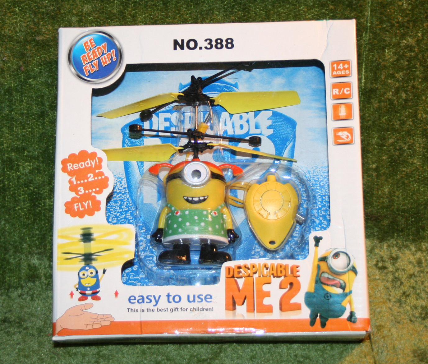 Despicable Me 2. Remote control Flying Minion helicopter.