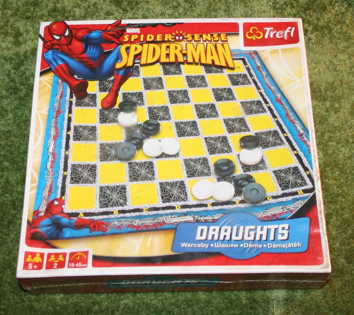 Spiderman draughts set.