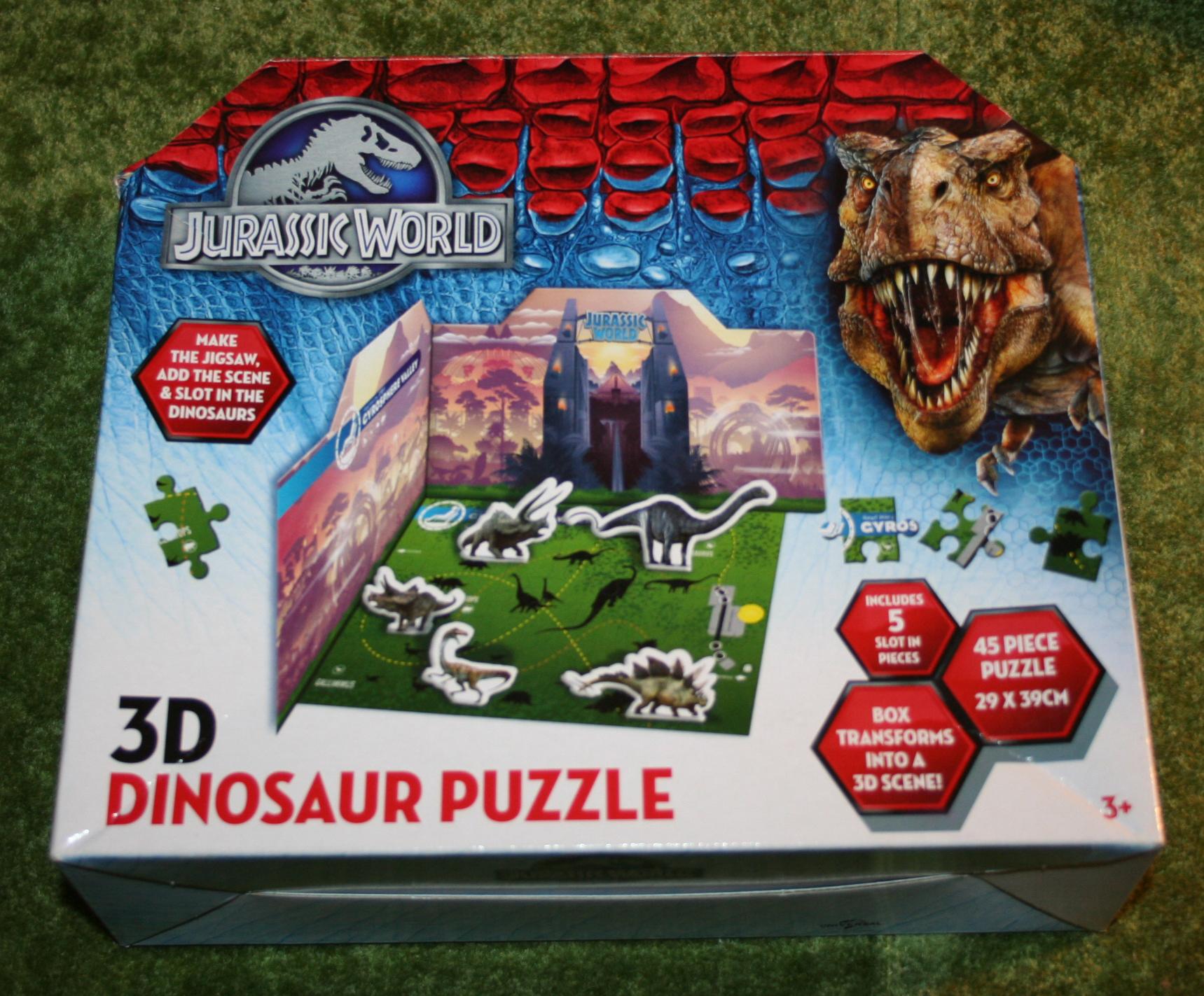 Jurassic World 3d Dinosaur Puzzle